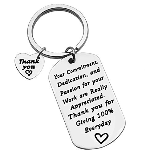 Employee Appreciation Gifts Employee Thank You Keychain Your Commitment Dedication and Passion for Your Work are Really Appreciated Keychain Coworker Employee Gifts Thank You Gifts for Employees