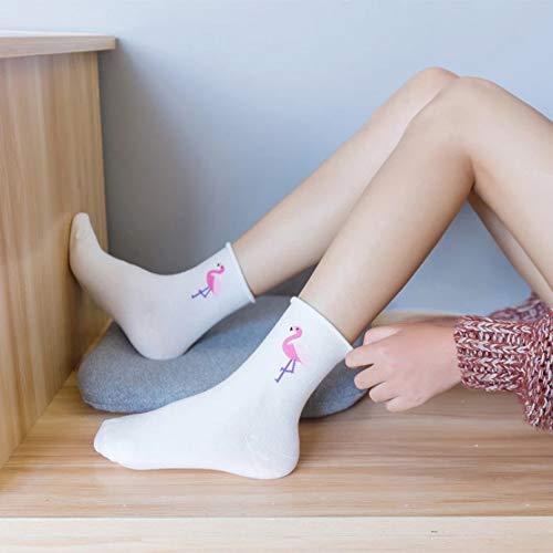 KANGDE Primavera Verano Mujer Calcetines Calcetines Algodón Transpirable In-Tube Calcetines Boca Suelta Calcetines Calcetines de Mujer 🔥