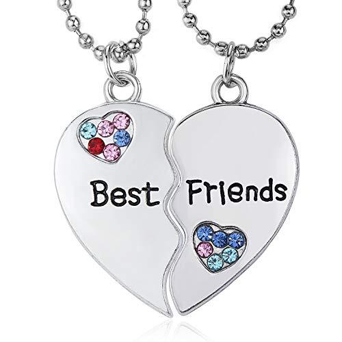 Gleamart Friendship Necklace Best Friends Necklace for 2 Best Friends H