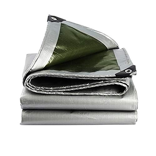 YINUO Lona Acolchada Impermeable Protector Solar Paño con Lona Caravana Lona Impermeable Lona recubierta PVC Toldo Lona Impermeable Paño Impermeable Gris (200 g/Metro Cuadrado, Espesor: 0,3 mm)
