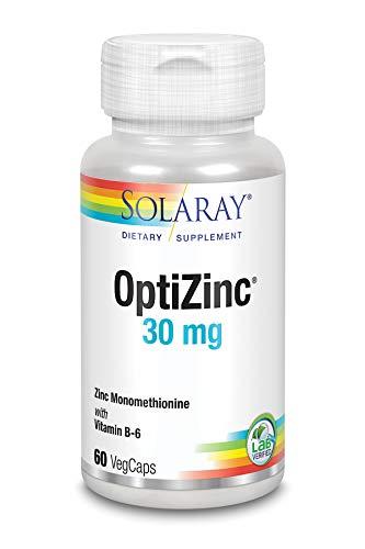 Solaray Optizinc 30mg | Zinc + B6 | 60 VegCaps