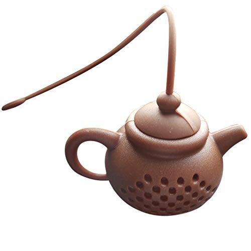 Ouneed- Infuseur à Thé Silicone Filtre à Thé en Silicone 100% Alimentaire (café foncé)