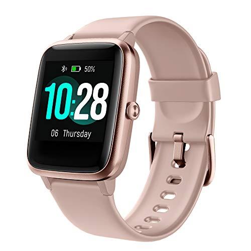 YAMAY Smartwatch,Fitness Armband mit Pulsuhren Fitness Tracker Wasserdicht IP68 Fitnessuhr Sportuhr Schrittzähler für Android iOS Handy Smart Watch mit Unterschiedliche Zifferblätter für Damen Herren