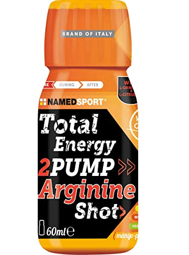 Total Energy 2PUMP Arginine Shot Namedsport 60ml (Mango-Peach, 12 Bottles)