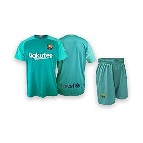 Conjunto Camiseta y pantalón Portero Replica FC. Barcelona 2019-20 - Producto con Licencia - Dorsal Liso - 100% Poliéster – Talla niño 14 años