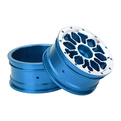 YNSHOU Accesorios de Juguete Durable Multicolor Opcional 4PCS 1.9 Pulgadas Buje de Rueda Bujes de Rueda RC para 1/10 RC Drifting Car (C Azul) ( Color : C Blue )