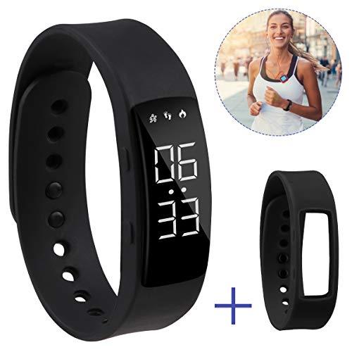 Hootracker Schrittzähler Fitness Armband Aktivitätstracker Schrittzähler Kalorienzähler Ohne Bluetooth für Damen Kinder Herren Ohne App Handy