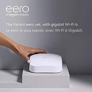 Amazon eero Pro 6 tri-band mesh Wi-Fi 6 router with built-in Zigbee smart home hub