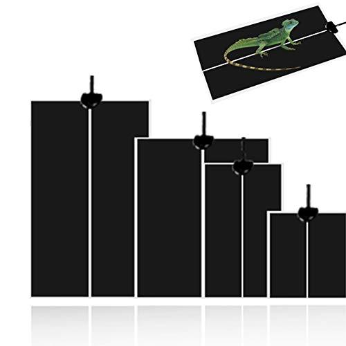Tapis chauffant pour reptiles 5W/7W/14W/20W Sécurité étanche réglable Pet Tank Warmer Mat Pad avec contrôle de la température pour reptiles Tortue tortue serpents lézard gecko araignée escargots