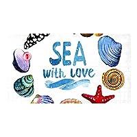 あなたが愛する海と動物, 吸盤と排水穴付き滑り止めシャワーマットPVCバスルームバスタブマシン洗えるマットバスルーム用15.7x27.9インチ