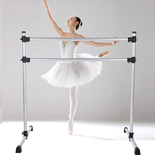Black Ballet Stretch Ladder Portable Mobile JLFSDB Ballet Barre Bar Curved Legs Adult Child Household Dance Bar Freestanding