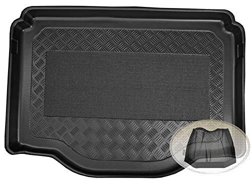 ZentimeX Z3054413 Antirutsch Kofferraumwanne fahrzeugspezifisch + Klett-Organizer (Laderaumwanne, Kofferraummatte)