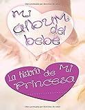 Mi Album De Bebé La Historia De Mi princesa: album fotos bebe niña primer año libro recuerdos mi primer album de bebe libro recien nacido