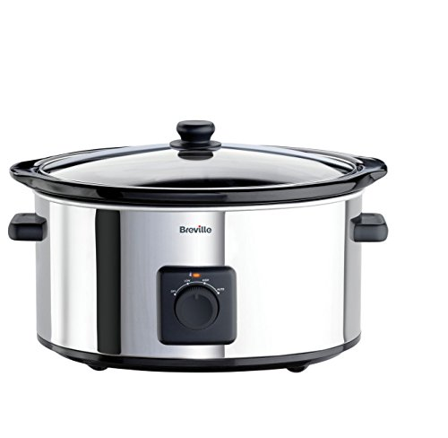 Breville ITP138 5.5L Slow Cooker - Stainless Steel.