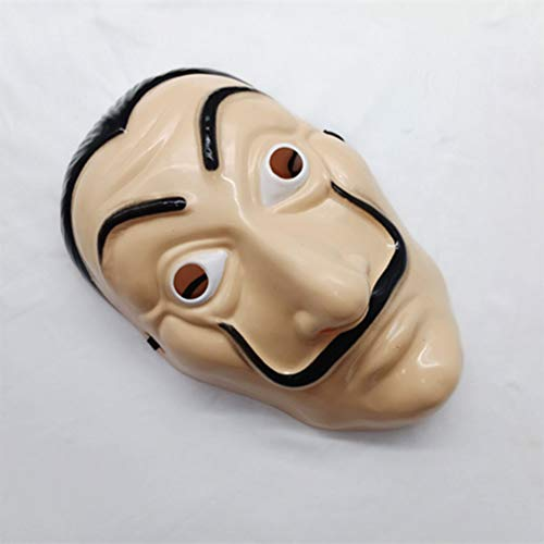 FuYouTa Paper House Salvador Dalì Máscara La Casa De Papel Máscara Realista de Halloween Objeto cinematográfico Realista, Adecuado para Fiestas de Disfraces, Fiestas de Disfraces, Carnaval
