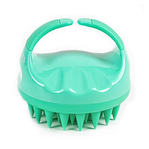 Scalp Massager, Scalp Scrubber, Wet and Dry Use Scalp Massager Shampoo Brush,Soft Silicone Bristles For Exfoliating,Stress Relax Scalp,Improve Hair Growth