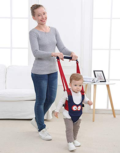 Baby Walker, Adjustable Baby Walking Harness Safety Harnesses, Pulling and Lifting Dual Use 7-24 Month Breathable Stand Up & Walking Learning Helper for Infant Child Activity Walker (Blue)