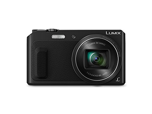 Panasonic Lumix DC-TZ57 - Cámara Compacta de 16,1 MP (Super Zoom, Objetivo F3.3-F6.4 de 24-480mm, Zoom de 20X, WiFi, Pantalla Abatible), Color Negro