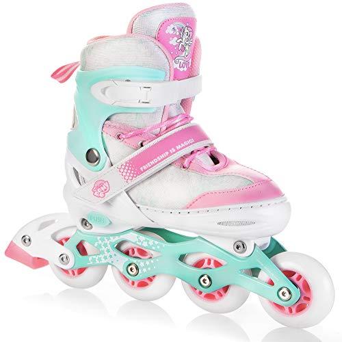 Spokey My Little Pony Candy Inline Skates für Kinder bis max. Gewicht 60 kg| Größenverstellbar, Alu-Schienen, Kugellager ABEC-7 Carbon, PU Rolle 82 A
