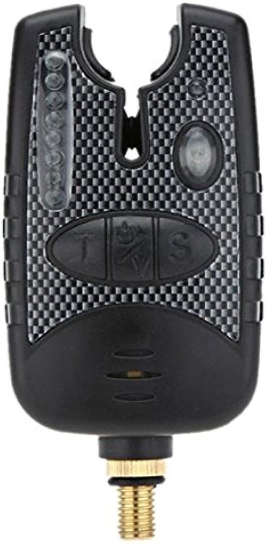 Kbjaccessory Fishing Alarm Finder 4 colors Black Bite Alarm with 8 LED