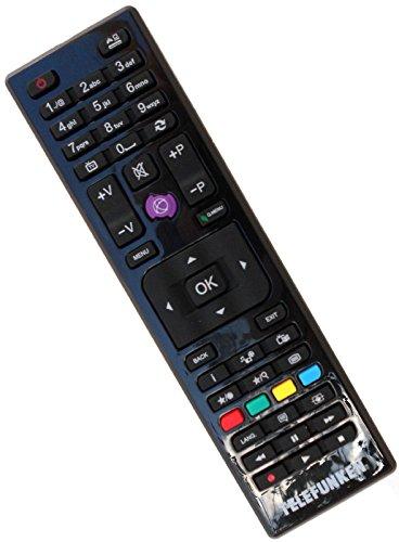 Original Telefunken RC4875 30087730 Fernbedienung, Remote Control, Schwarz