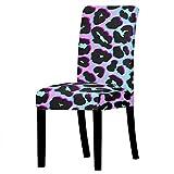 Cubierta de silla del brazo de la cubierta de la silla de la silla del leopardo para el restaurante de la silla de la silla para el restaurante Banquete de la boda Muebles de la oficina Decoraciones