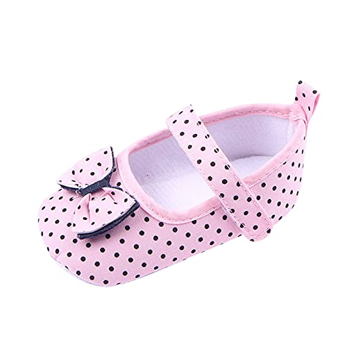 Zapatos niña Bebe Primeros Pasos Precioso Inclinarse Zapatos de Bautizo de Princesa Merceditas niña bebé Zapatos para niños pequeños Antideslizante Suave de Estar por casa Zapato Feroz para bebé