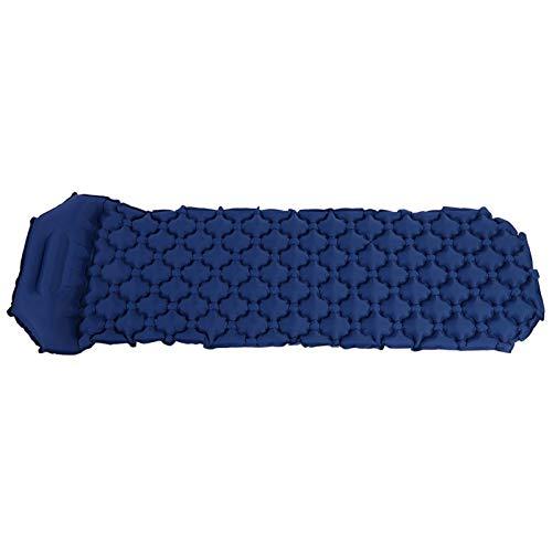 Colchoneta Inflable para Dormir, colchón para no Acampar Diseño de Ranura para Huevos Continua Resistencia al Desgaste Equipo para Acampar Almohadilla para Acampar para mochileros para