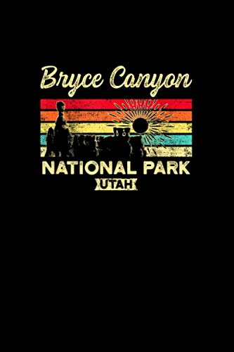 Retro Sunset National Park Bryce Canyon Notebook Journal 6x9 inch 114 Pages