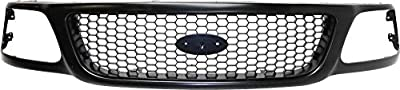 Grille Assembly Compatible with 1999-2003 Ford F-150 Honeycomb Insert Paintable Shell and Insert also fits 2004 Heritage model
