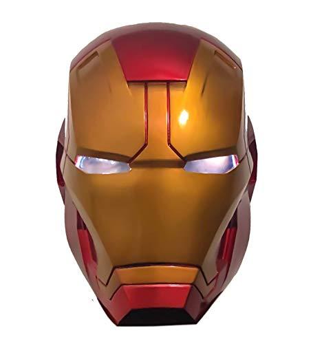 LIUQI Casco de hombre de hierro, réplica de máscara de hombre de hierro LED electrónica fresca, accesorio de disfraz para niños, regalo de accesorios de luz de Revenger