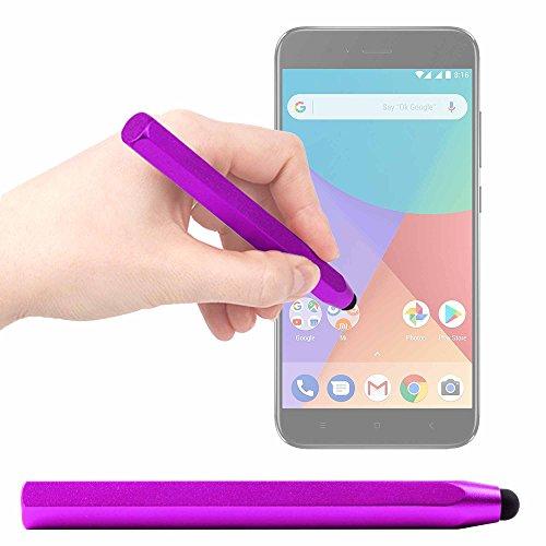 DURAGADGET Lápiz Stylus para Smartphone Xiaomi Mi A1 - En Morado
