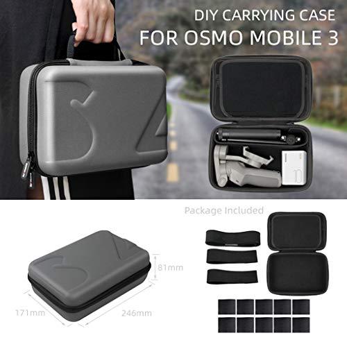 L9WEI Handtasche Koffer für DJI OSMO Mobile 3, Tasche Tragbar Dämpfung Antikollisions Gimbal Kameradrohnen Sack RC Drone Zubehör (grau, 25 * 18 * 6 cm)