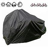 FUCNEN Cubierta de Bicicleta Impermeable Portátil Ligero para Exterior Interior de Almacenamiento 3 Bicicletas Heavy Duty Funda para Bicicleta Anti Polvo Lluvia Nieve Viento UV Protección