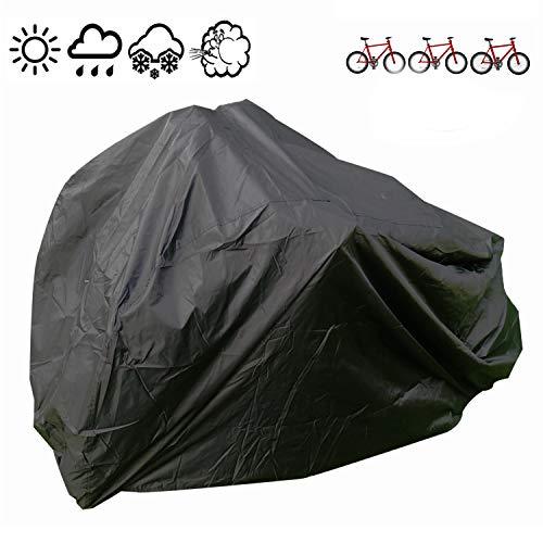 Cubierta de Bicicleta Impermeable Portátil Ligero para Exterior Interior de Almacenamiento 3 Bicicletas FUCNEN Heavy Duty Funda para Bicicleta Anti Polvo Lluvia Nieve Viento UV Protección