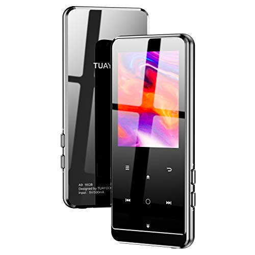 MP3プレーヤー TUAYOO Bluetooth5.0 mp3プレーヤー HIFI超高音質 2.4インチ HD大画面 16GB内蔵 64GB拡張可能 大容量 音楽プレーヤー ポータブルオーディオプレーヤー ブルートゥース 小型 超軽量 FMラジオ VOR録音機能 合金製 多機能 Type Cポート搭載 日本語説明書付き