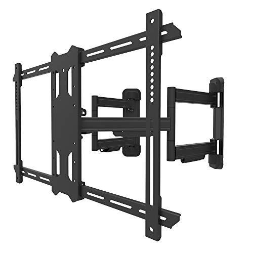 Kanto PDC650 Full Motion Corner TV Mount for 37-inch to 70-inch TVs | Supports up to 125 lbs (56 kg) | Swivel 40° | Tilt +15°/-3° |
