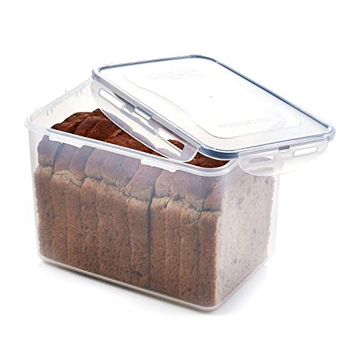 LOCK & LOCK Easy Essentials Food lids/Pantry Storage/Airtight containers, BPA Free, Rectangle-16.5 Cup-for Beans, Clear