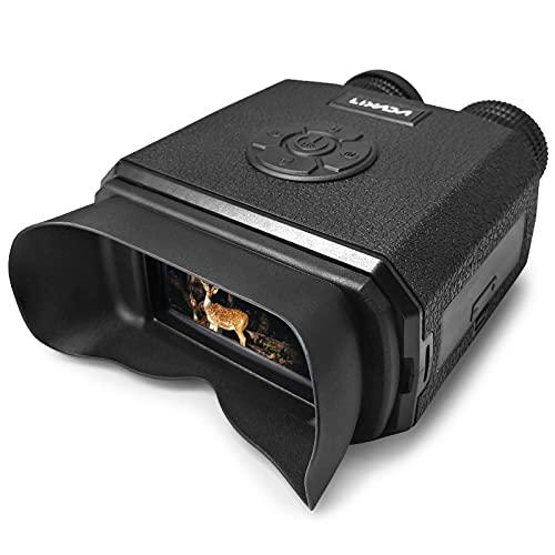 Lixada Binoculares de Visión Nocturna con Zoom Digital 8X Alcance de Visión Nocturna por Infrarrojos con Cámara Modos de Menú de Reproducción de Vídeo Tarjeta TF Incluida