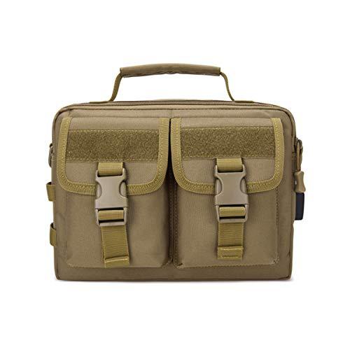 BraveHawk OUTDOORS Tactical Messenger Bag Briefcase, 800D Military Nylon Oxford Water Resistant MOLLE Crossbody Shoulder Pack Handbag Daypack Laptop Organizer