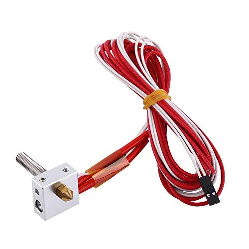 nologo 0.4mm Nozzle Extruder, 3D Printer Accessories Aluminum Heating Block Hot End Kit