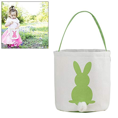 Osterbeutel, Osterhasenohren Korb Segeltuch Taschen Eimer Ostern Geschenk Tasche wiederverwendbare Eimer festliche Einkaufstasche für Babys Kleinkinder Mädchen