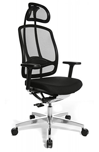 Wagner Alumedic 10 Bürostuhl Alu Medic 10 Stuhl Dondola mit Armlehnen Fb. schwarz