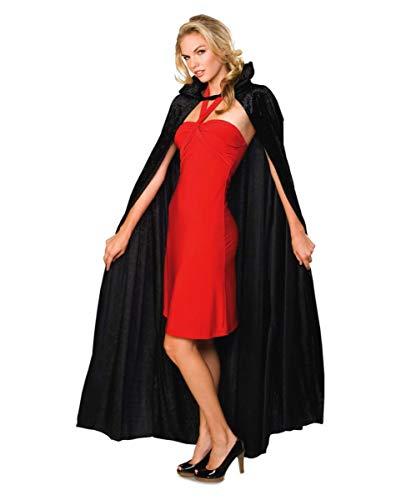 Horror-Shop Dracula Cape Black Velvet Crush