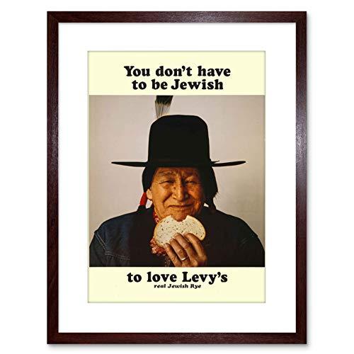 Wee Blue Coo 9x7 '' AD Food LEVY RYE Bread Native American Jewish Framed Art Print F97X077