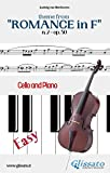Theme from 'Romance in F' Easy for Cello and Piano Solo: n. 2 - op. 50 (English Edition)