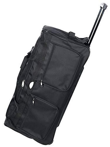 Reise Trolley Bag Sport Tasche 50L 70L 100L Reise-Henkeltasche Schwarz 30175 Schwarz S 60x30x33