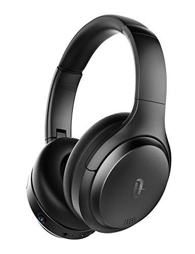 TaoTronics Cascos Bluetooth Diadema, Auriculares con Cancelación de Ruido, 35hrs de Batería, Cascos Bluetooth 5.0 Cómodos, Sonido Real con Micrófono Incorporado para iPhone Samsung Huawei TV