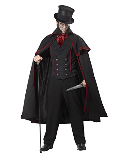 California Costumes Costume effrayant Jack le Ripper taille adulte noir L 1132