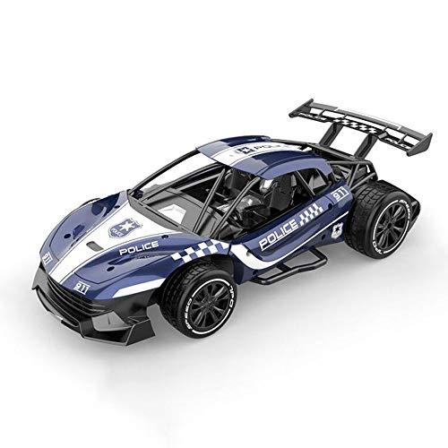 HSCW 2.4Ghz Radio Control RC Racing Car Control Remoto Aleación de Alta Velocidad Metal Racing Simulación Modelo Coche de policía Coches de Juguete para 3 4 5 6 7 8-12Year Old Boy Toy Gifts
